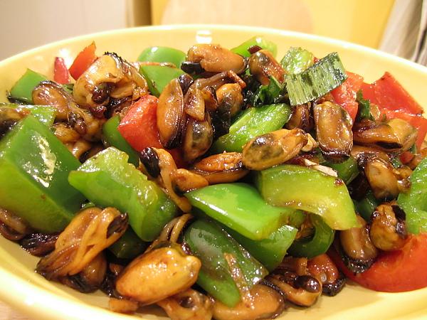 淡菜炒青椒