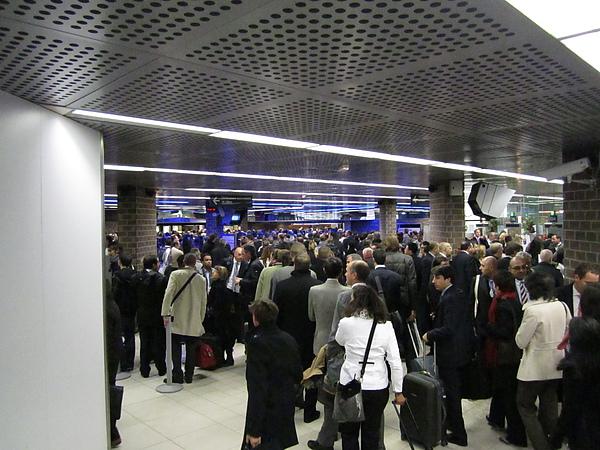 回家時地鐵站的人潮