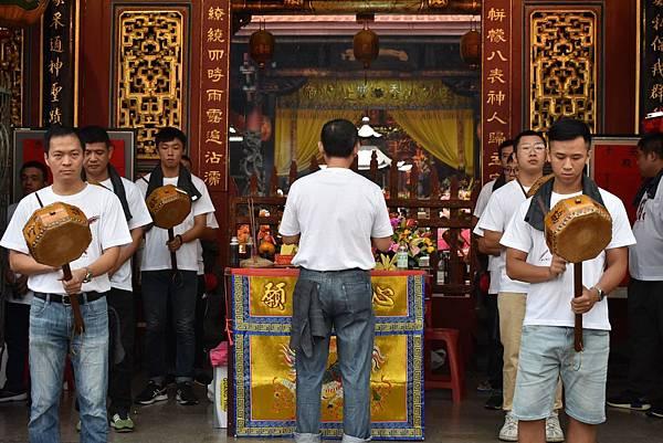 戊戌年苗栗後龍慈鳳壇 中壇元帥 往台南首廟天壇開光啟靈