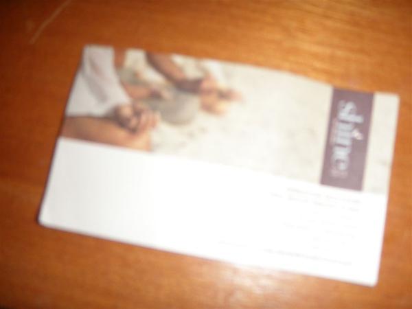 SPA的預約卡