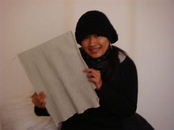 早上起床~結凍的毛巾@@