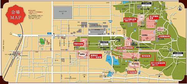 奈良燈花節地圖