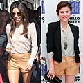 Celebrities-Tan-Leather-Shorts