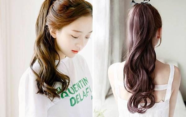 《韓劇經典髮型》梨花馬尾挑染假髮