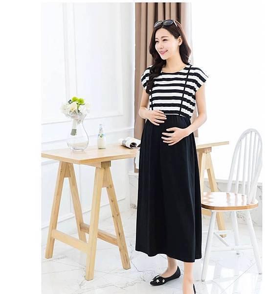 ☀ 【夏季】夏季韓版短袖寬鬆哺乳連身長裙
