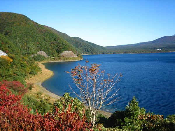 沒有富士山輝映的湖邊