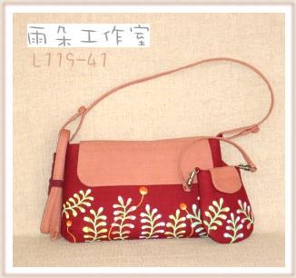 蔓草系列手工包(兩用袋)-L119-41