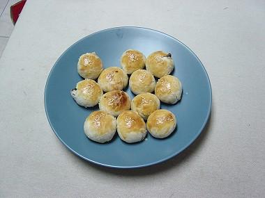 完成美麗的蛋黃酥
