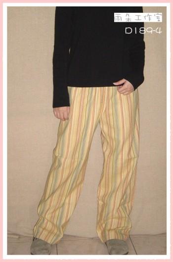 D189-4-條紋褲