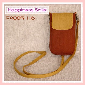 ipod斜背袋-素面-FA005-1-6(黃咖啡+黃)