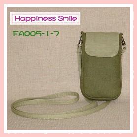 ipod斜背袋-素面-FA005-1-7(橄欖綠+淺綠)