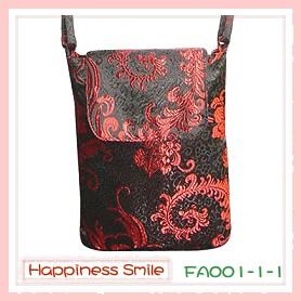 錦緞中國風系列-斜背袋FA001-1-1(黑)