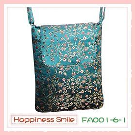 錦緞中國風系列-斜背袋FA001-6-1(青)