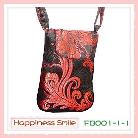 錦緞中國風系列-手機袋FB001-1-1(黑)