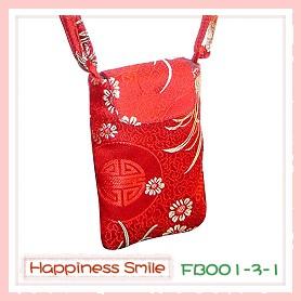 錦緞中國風系列-手機袋FB001-3-1(紅)