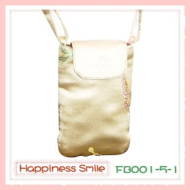 錦緞中國風系列-手機袋FB001-5-1(銀黃)