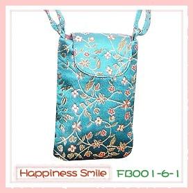 錦緞中國風系列-手機袋FB001-6-1(青)