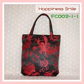錦緞中國風系列-手提袋FC002-1-1(黑)