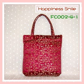 錦緞中國風系列-手提袋FC002-4-1(棗紅)