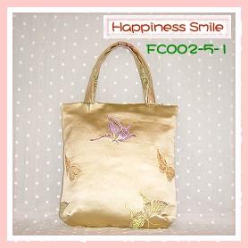 錦緞中國風系列-手提袋FC002-5-1(銀黃)