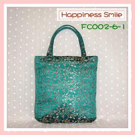 錦緞中國風系列-手提袋FC002-6-1(青)