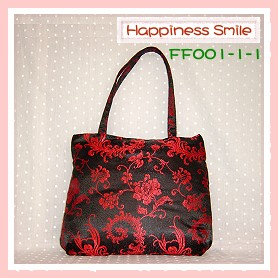 錦緞中國風系列-肩背袋FF001-1-1(黑)