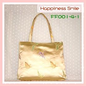 錦緞中國風系列-肩背袋FF001-4-1(銀黃)