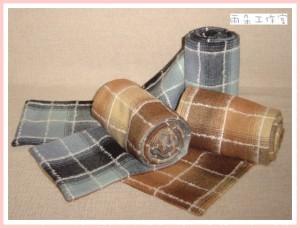 學院風秋冬新款格子圍巾-2