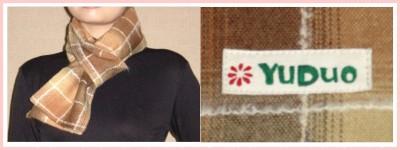 學院風秋冬新款格子圍巾-3