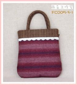 FC005-3-1浪漫華麗風系列(紅+芥黃)手提袋
