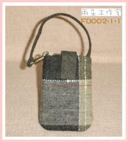 FB002-1-1英國學院風系列(綠)手機袋
