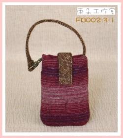 FB002-3-1浪漫華麗風系列(紅+芥黃)手機袋