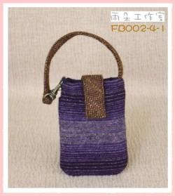 FB002-4-1浪漫華麗風系列(紫+芥黃)手機袋