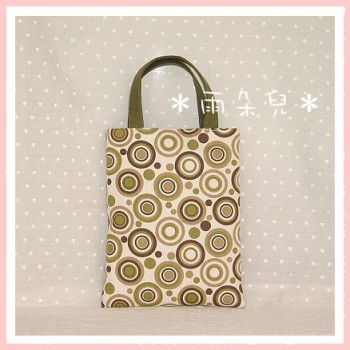 普普風同心圓系列手提袋(綠色)-FC004-2-1