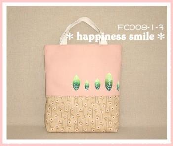 彩繪葉子系列手提袋(粉紅色)-FC008-1-3
