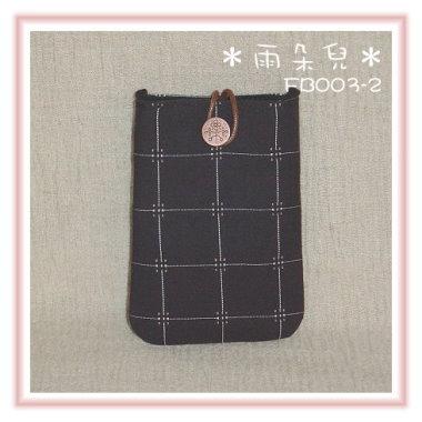 FB003-2英倫風格子系列手機袋(黑色)