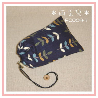 FC009-1葉子圖相機袋(藍色)