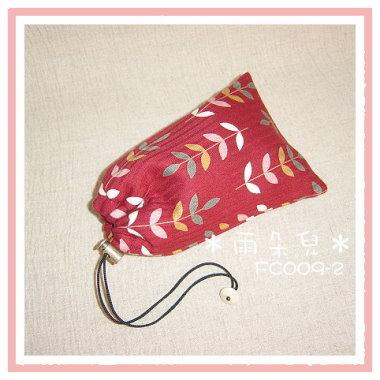 FC009-2葉子圖相機袋(紅色)