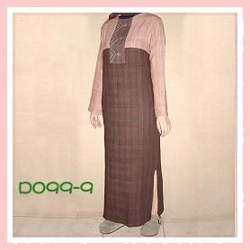 手工繡花咖啡色手染服-D099-9(洋裝)