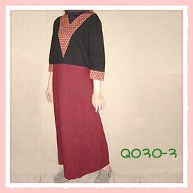 和風拼布黑色手染服-Q030-3(洋裝)
