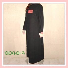 和風拼布黑色手染服-Q048-3(洋裝)