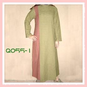 素雅綠色色手染服-Q055-1(洋裝)
