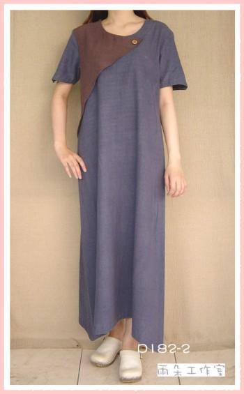 簡約風手染服-D182-2-(洋裝)-已售