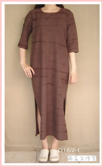 絞染手染服-D162-1-(洋裝)-已售