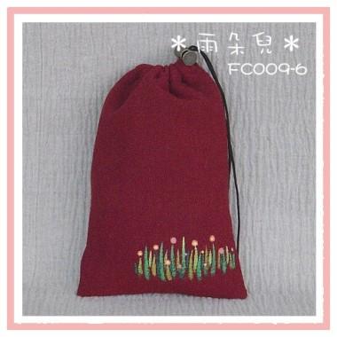 FC009-6手繪星星草系列相機袋(紅色)