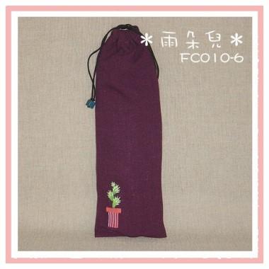 FC010-6長型仙人掌環保筷袋(紅紫色)