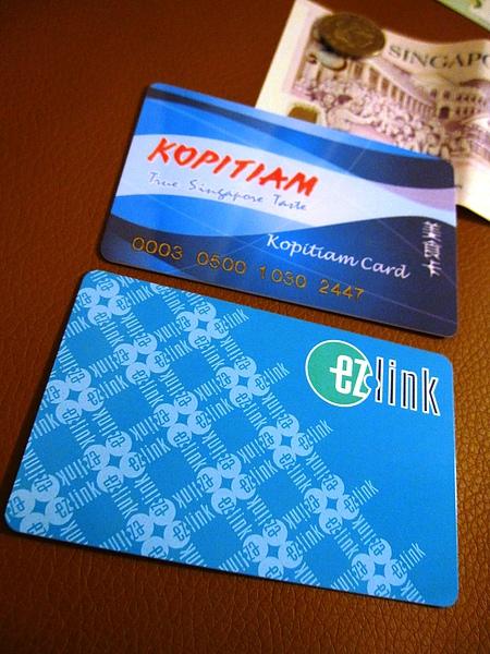 美食卡(上)和捷運卡(下)的正面.JPG