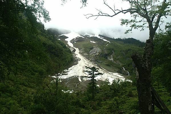 神瀑附近冰川1