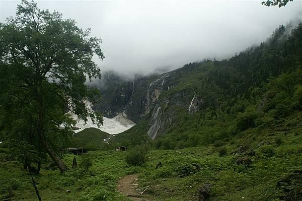 神瀑附近冰川2