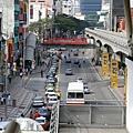 城市輕軌列車_俯視街景_2